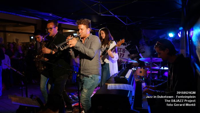 DSC08324- The D&JAZZ Project - Fonteinplein - 24mei2015 -  foto GerardMontE web