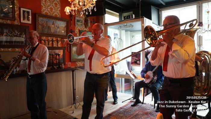 DSC08549- The Sunny Garden Jazz Band - Keulse Kar - 25mei2015 -  foto GerardMontE web