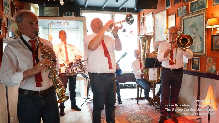 DSC08551- The Sunny Garden Jazz Band - Keulse Kar - 25mei2015 -  foto GerardMontE web