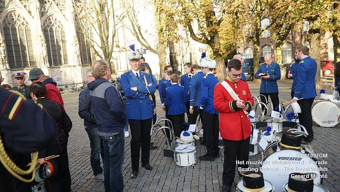DSC02767- Het muzikale slotakkoord Parade - Beating Retreat ceremony The Royal Welsh - 27okt2019 - foto GerardMontE web