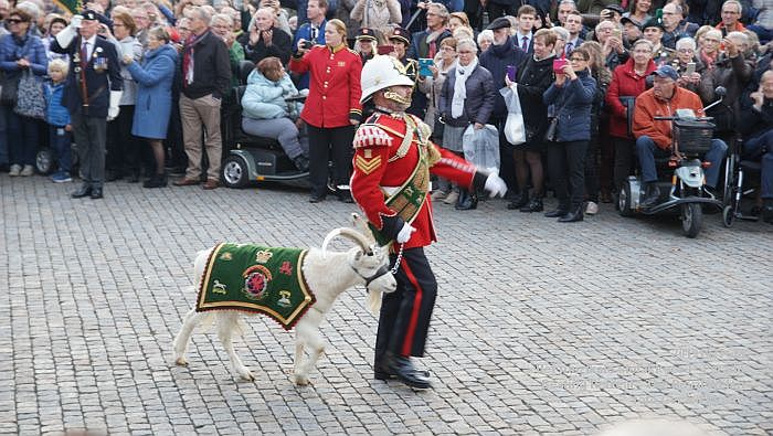 DSC02824- Het muzikale slotakkoord Parade - Beating Retreat ceremony The Royal Welsh - 27okt2019 - foto GerardMontE web