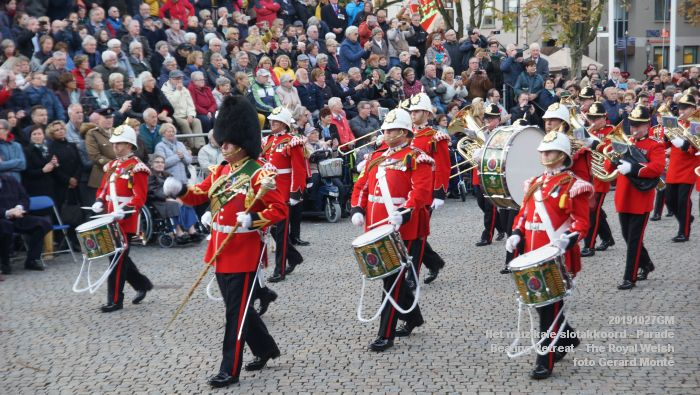 DSC02832- Het muzikale slotakkoord Parade - Beating Retreat ceremony The Royal Welsh - 27okt2019 - foto GerardMontE web