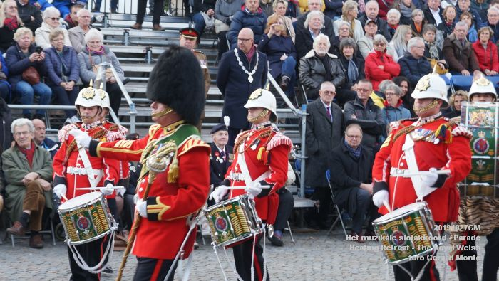 DSC02852- Het muzikale slotakkoord Parade - Beating Retreat ceremony The Royal Welsh - 27okt2019 - foto GerardMontE web
