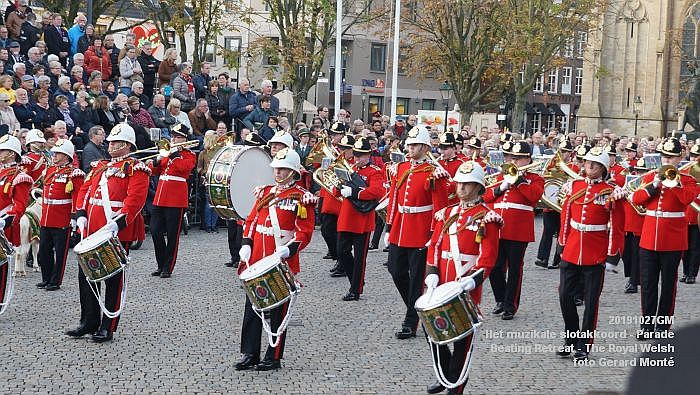 DSC02859- Het muzikale slotakkoord Parade - Beating Retreat ceremony The Royal Welsh - 27okt2019 - foto GerardMontE web
