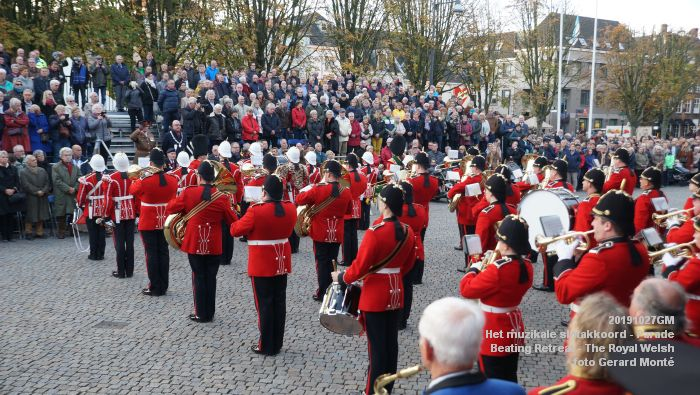 DSC02866- Het muzikale slotakkoord Parade - Beating Retreat ceremony The Royal Welsh - 27okt2019 - foto GerardMontE web