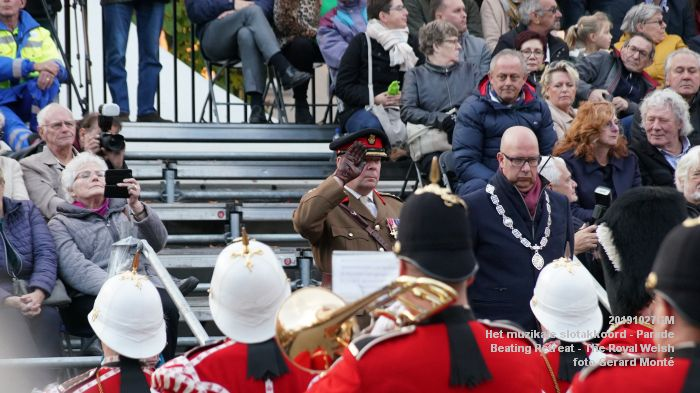 DSC02866-DSC01385- Het muzikale slotakkoord Parade - Beating Retreat ceremony The Royal Welsh - 27okt2019 - foto GerardMontE web