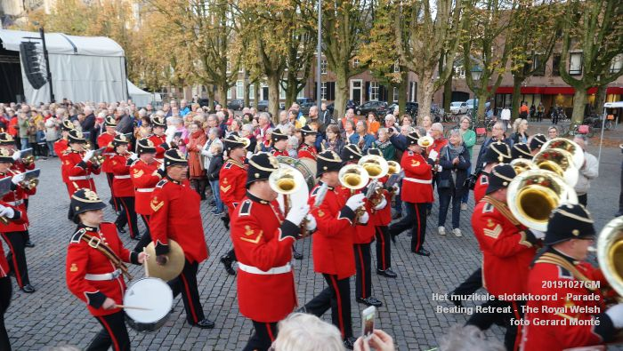DSC02884- Het muzikale slotakkoord Parade - Beating Retreat ceremony The Royal Welsh - 27okt2019 - foto GerardMontE web