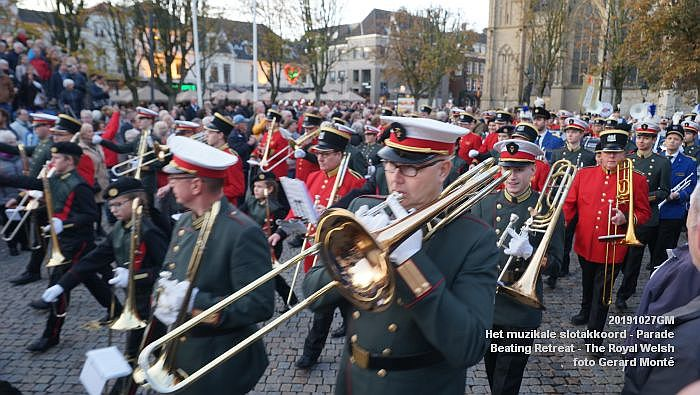 DSC02913- Het muzikale slotakkoord Parade - Beating Retreat ceremony The Royal Welsh - 27okt2019 - foto GerardMontE web