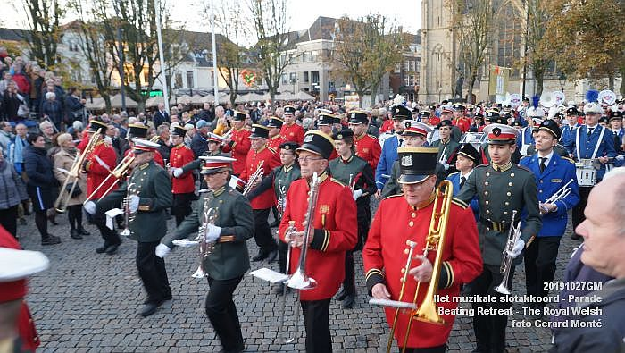 DSC02914- Het muzikale slotakkoord Parade - Beating Retreat ceremony The Royal Welsh - 27okt2019 - foto GerardMontE web