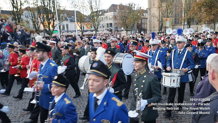 DSC02915- Het muzikale slotakkoord Parade - Beating Retreat ceremony The Royal Welsh - 27okt2019 - foto GerardMontE web
